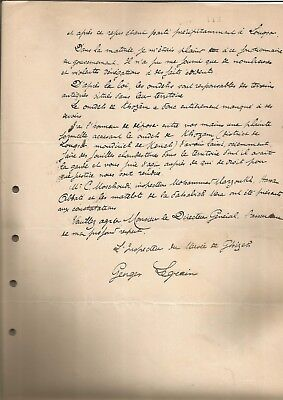 EGYPT ÄGYPTEN 1897 LETTER SIGNED by France Georges Legrain LOT 2