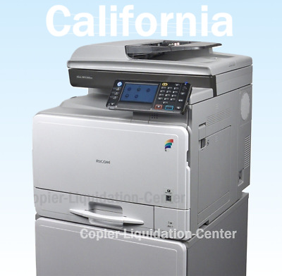 Ricoh MPC 305spf Color Copier Scan Print Speed 31 ppm. LOW METER m