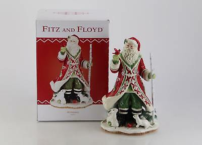 Fitz and Floyd Winterberry Santa Figurine NEW IN BOX