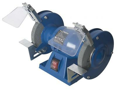 "ToolTronix Bench Grinder 150W 5"" 125mm Twin Grinding Stone Workshop Garage"