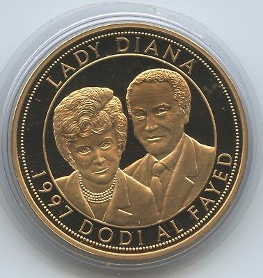 GY1026 - Medaille Lady Diana 1961-1997 Queen of Hearts 1997 Dodi al Fayed