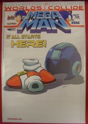 Mega Man 24 Archie Variant Convention Comic Worlds Collide Sonic Flynn 2013 Nm