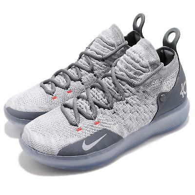 new style ef3cf 869d4 Nike Zoom KD 11 EP XI Cool Grey Wolf Kevin Durant Men Basketball Shoe  AO2605-