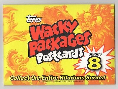 2012 Topps Wacky Packages Postcard Series 8 Limited Edition Factory Sealed Set