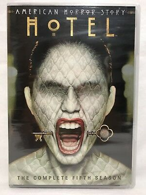American Horror Story Hotel The Complete Fifth Season 4 Disc DVD Set NEW Sealed