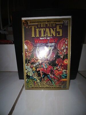 The New Teen Titans 50-55 signed by George Perez