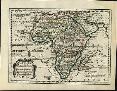 Africa Mts. of the Moon 1719 Chiquet nice decorative map dragon head cartouche