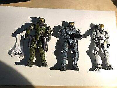 Mcfarlane Halo Legends The Package Lot Of 3 Masterchief Fred Kelly