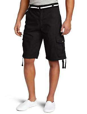 b8f36ef783 Southpole Men's Belted Ripstop Basic Cargo Short with Washing and 13.5 Inch  ...