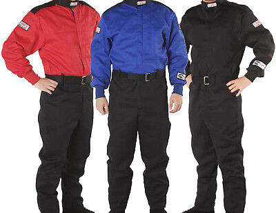 G-Force - GF-125 SFI-1 Auto Racing Suit - 1-Piece Nomex Style Fire Rated - L/2XL