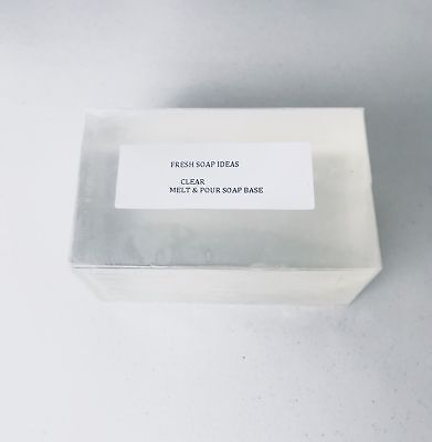 Clear Melt and Pour Soap Base Low Sweat + free fragrance + 30 e-recipes