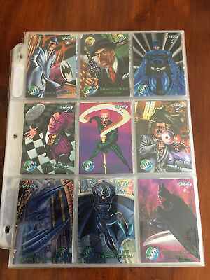 Batman Forever Metal trading cards base set