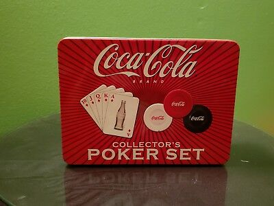 Coca-Cola Collector's Poker Set Cards chips 2004 mint in tin