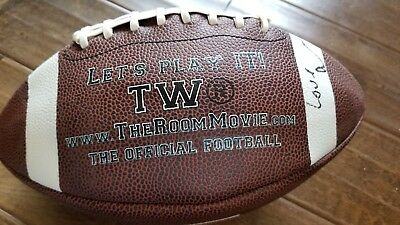 The Room Official Football Signed Auto By Johnny Tommy Wiseau Diaster Artist