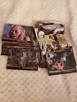 Lot Of LOTR, The Two Towers Topps Trading Cards