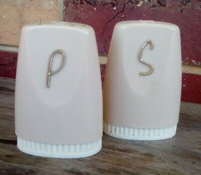 Vintage Collectable Retro Salt And Pepper Shakers - plastic
