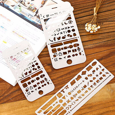 Phone Hollow Metal Ruler Craft Dies Graffiti Drawing Template Scrapbooking DIY
