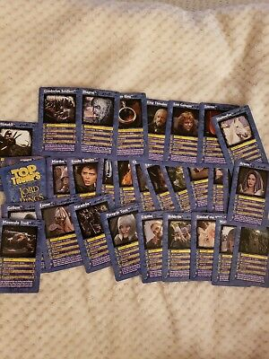 LOTR The Return Of The King Top Trumps Trading Cards