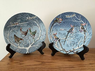 Haviland Limoges 12 Days of Christmas #3 Three French Hens #4 Four Coly Birds