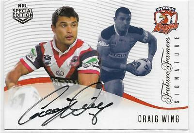 2018 Nrl Glory Future Famers Signature (FFS 12) Craig WING Roosters 252/420