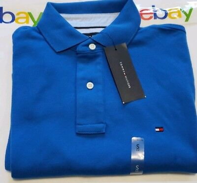 308039fbf305a5 NWT TOMMY HILFIGER Polo Shirt Men S SLIM FIT Knit Casual Collared ...