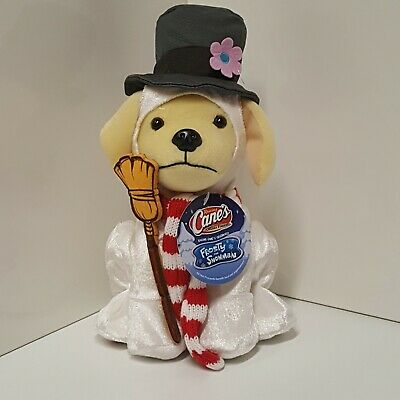 Raising Cane's Chicken Fingers Frosty The Snowman Christmas Plush 2018 Dog Toy