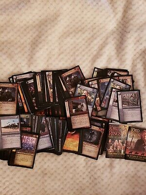 The LOTR Trading Card Game Cards includes 3 3D cards and 2 sticker cards