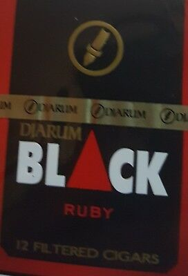NEW 1 Sealed Pack 12 Djarum Ruby Black Cloves US SELLER! Kretek