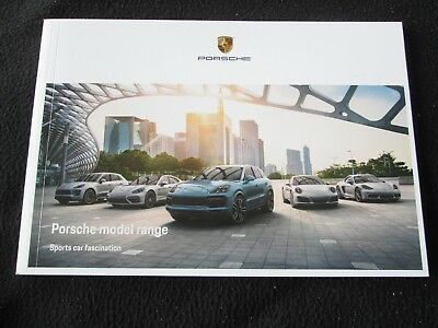 2018 2019 Porsche Brochure 991 Carrera Turbo 718 Boxster Cayman Macan US Catalog