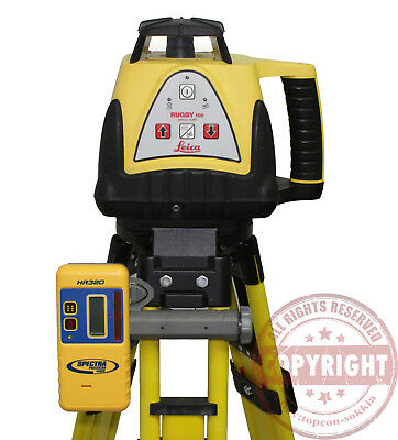 Leica Rugby 100 Self Leveling Rotary Laser Level, Trimble, Spectra, Topcon