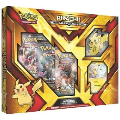 Pokemon TCG Pikachu Sidekick Collection Box 3 Booster Packs + Keychain Sun Moon