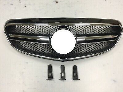 Front Grille For '14 on W212 CLASSIC HYBRID E63 AMG Look W/Camera Holder BK#197