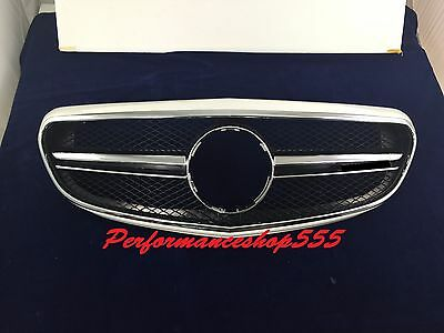 2014-2016 E63 AMG Look Grille For Benz W212 E-CLASS CLASSIC HYBRID(WHITE #9650)