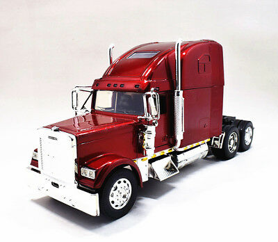 New Ray 1:32  Freightliner Classic XL Diecast Truck Trailer Model Toy Wine Red
