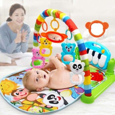 Baby Gym Play Mat Lay & Play 3 in1 Fitness Music And Lights Fun Piano Boy Girl