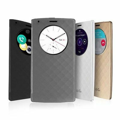 Luxury Quick Circle Smart Window View Slim Wallet Flip Case Cover For LG G3 G4FZ