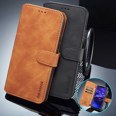 For Huawei Y9 2019 Case Honor 10 Lite Retro Leather Card Wallet Flip Stand Cover