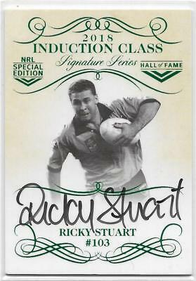 2018 Nrl Glory Induction Class Signature (INDS03) Ricky STUART 186/210