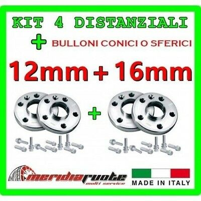 KIT 4 SPACERS FOR CITROEN C3 - PICASSO S -H 2009+ PROMEX ITALY 12mm + 16mm s