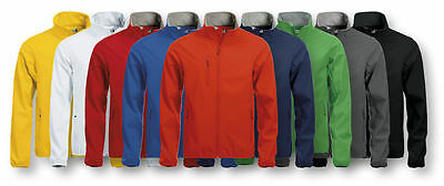 Clique-Mens Softshell Jacket- 3 Layer Microfleece Lined-Waterproof 3000mm- S-5XL