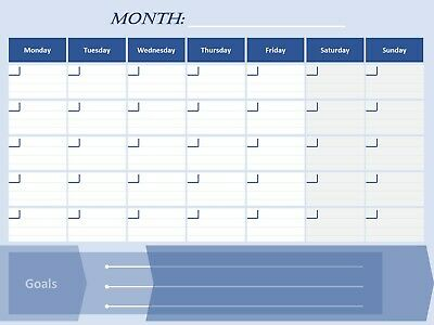 Monthly Calendar Office Planner - A3 / A4 Laminated - Fast & Free Delivery