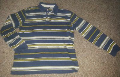 GAP KIDS Blue Striped Long Sleeved Rugby Top Boys Size 10