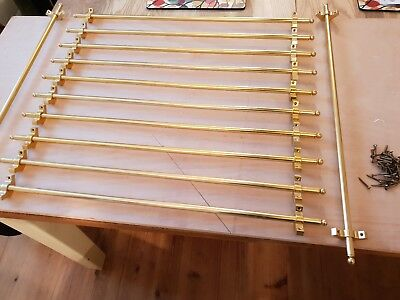 Brass effect stair rods x 12 with full set of fixngs
