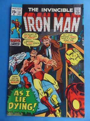 Iron Man 37 1971 'as I Lie Dying'!
