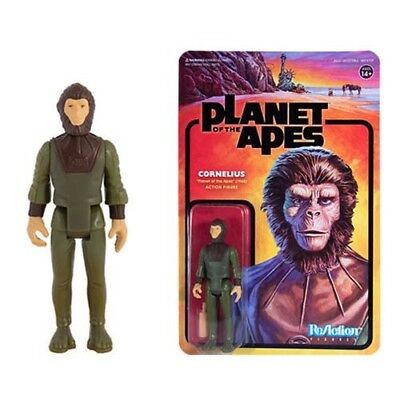 SUPER 7 PLANET OF THE APES CORNELIUS 3.75 inch REACTION FIGURE NEW In Stock