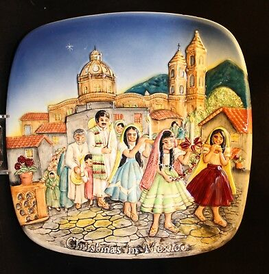 Christmas In Old Mexico -  Beswick plate by Royal  Doulton