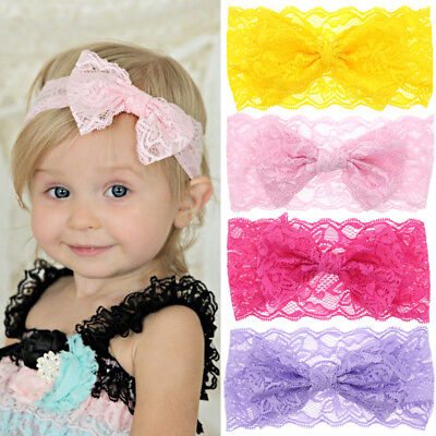 1PC Headband Cute Baby Girls Toddler Lace Sequin Bow Hair Band Turban Head Wrap