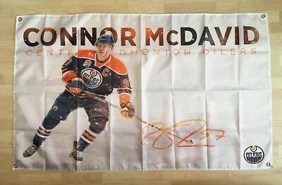Connor McDavid Oilers 3'x 5' Polyester Banner Flag