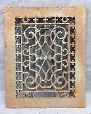 One Antique Rectangular Heat Grate Grill Decorative 8X10 35-19D