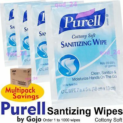 PURELL Wet Wipes Hand Anti Bacterial Clean Individual Sanitizer Germs Hygienic